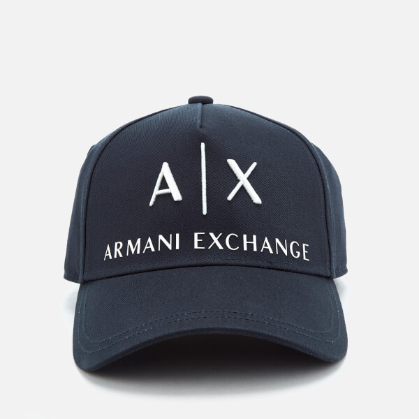 da2c908119f6f Armani Exchange Men s Logo Cap - Navy  Image 1