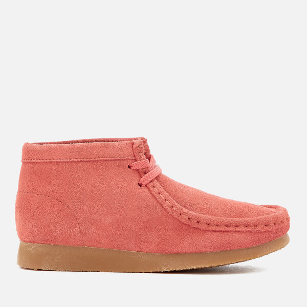 Clarks Originals Kids' Wallabee Boots - Coral Suede