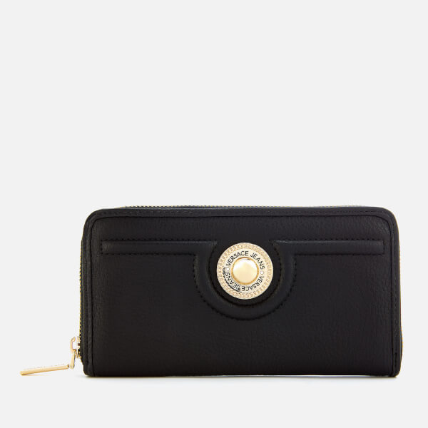 Versace Jeans Women s Zip Around Wallet - Black Womens Accessories ... 6356ed065a66b