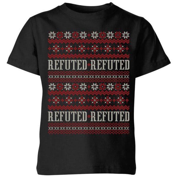 Refuted Christmas Kids' T-Shirt - Black