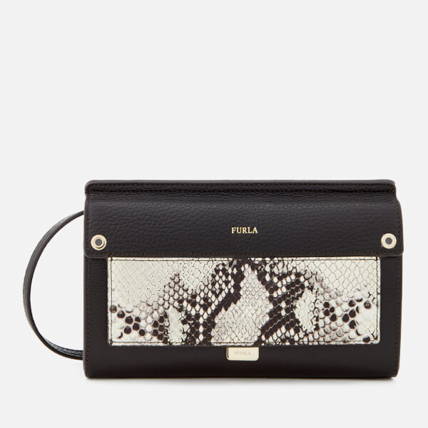 Furla Women's Like Mini Cross Body Bag - Black/Gold