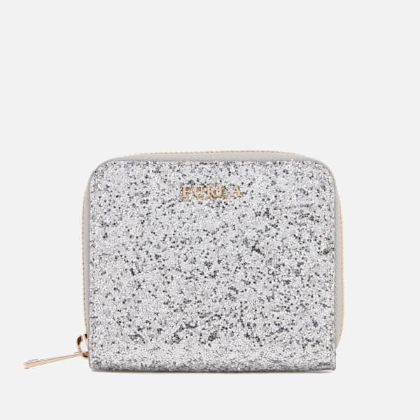 Furla Women's Babylon Small Zip Around Wallet - Silver