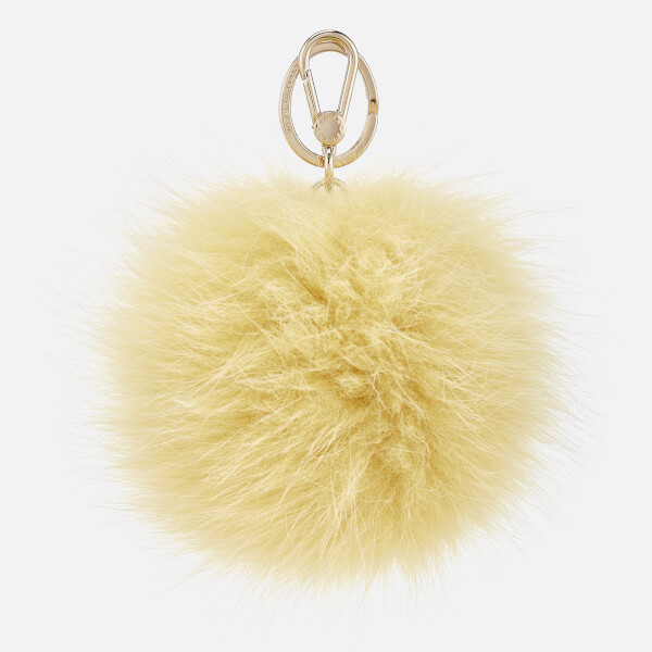 Furla Women's Bubble Pom Pom Keyring - Yellow