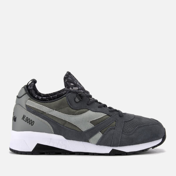 Diadora Men's N9000 Camo Socks Pack Trainers - Pewter