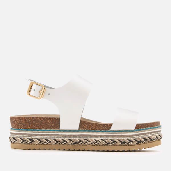 501c776d1e6f Carvela Women s Kitten Leather Flatform Sandals - White  Image 1
