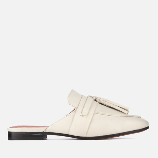 Kurt Geiger London Women's Kaiser Oversize Leather Tassle Loafers - White