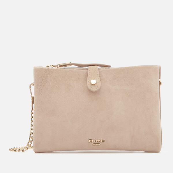 Dune Women's Etta Top Zip Clutch Bag - Blush