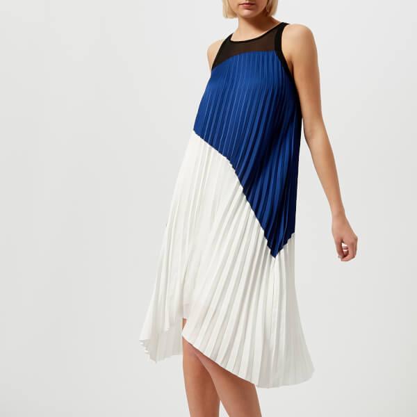 Karl Lagerfeld Women's Colour Block Pleated Dress - Multi: Image 1