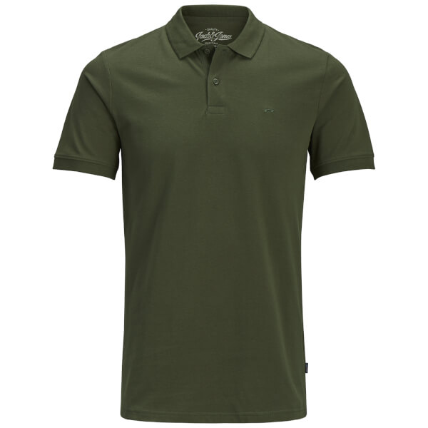 Jack & Jones Men's Originals Basic Polo Shirt - Olive Night
