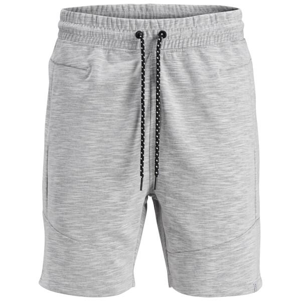 Jack & Jones Men's Core Melange Sweat Shorts - White Marl