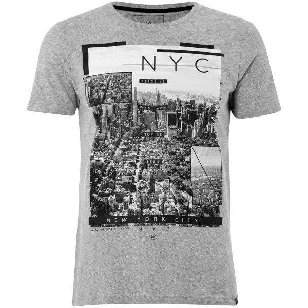Dissident Men's NY High T-Shirt - Light Grey Marl