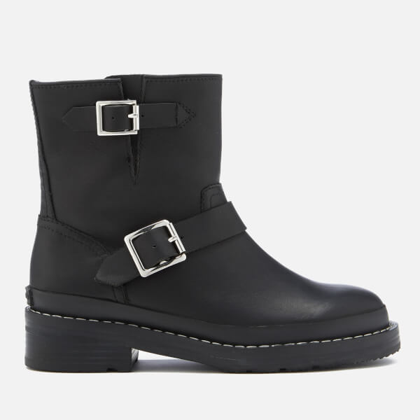 10c3307a001b Hunter Women s Original Leather Biker Boots - Black