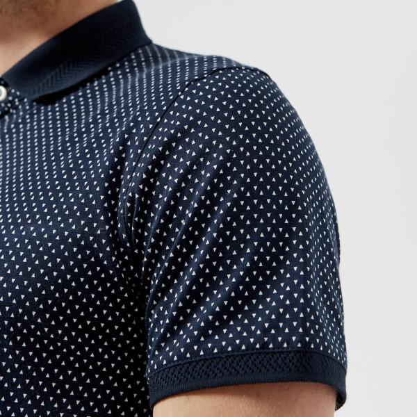 eece7ce4e63487 Ted Baker Men s Boxer Geo Print Polo Shirt - Navy Clothing
