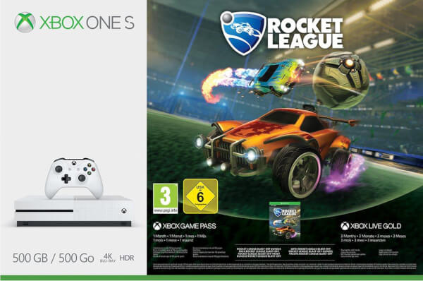 xbox one s 500gb with rocket league 3 months xbox live. Black Bedroom Furniture Sets. Home Design Ideas