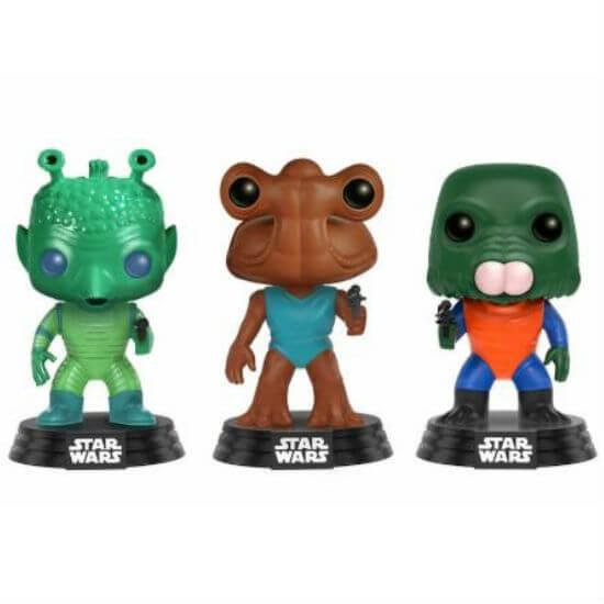 Star Wars Greedo, Hammerhead and Walrus Man Three Pack EXC Pop! Vinyl Figures