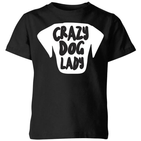 Crazy Dog Lady Kids' T-Shirt - Black