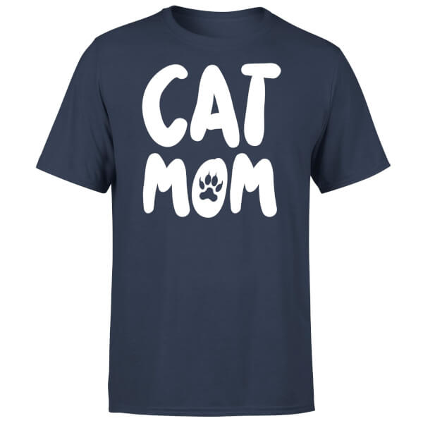 Cat Mom T-Shirt - Navy