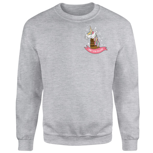 Christmas Unicorn Pocket Sweatshirt - Grey