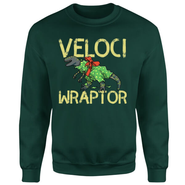 Veloci Wraptor Sweatshirt - Forest Green