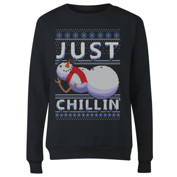 Just Chillin Women's Sweatshirt - Black