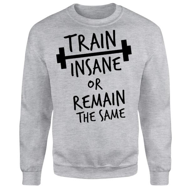 Train Insane or Remain the Same Sweatshirt - Grey