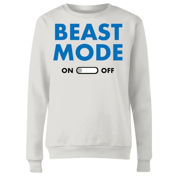 Beast Mode On Women's Sweatshirt - White