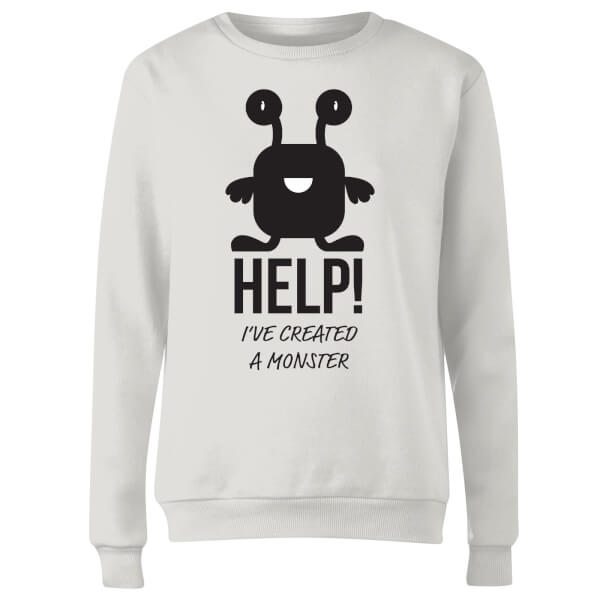 HELP Ive Created a Monster Women's Sweatshirt - White