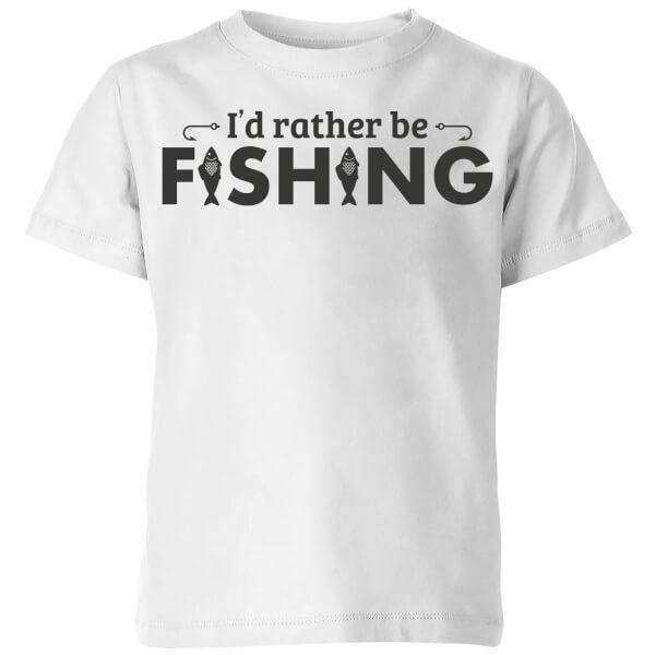 Id Rather be Fishing Kids' T-Shirt - White