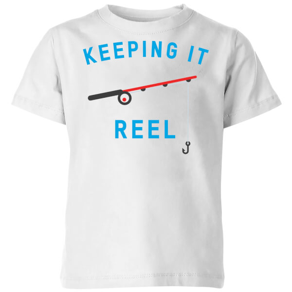 My Little Rascal Keeping it Reel Kids' T-Shirt - White
