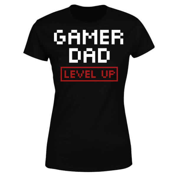 Gamer Dad Level Up Women's T-Shirt - Black