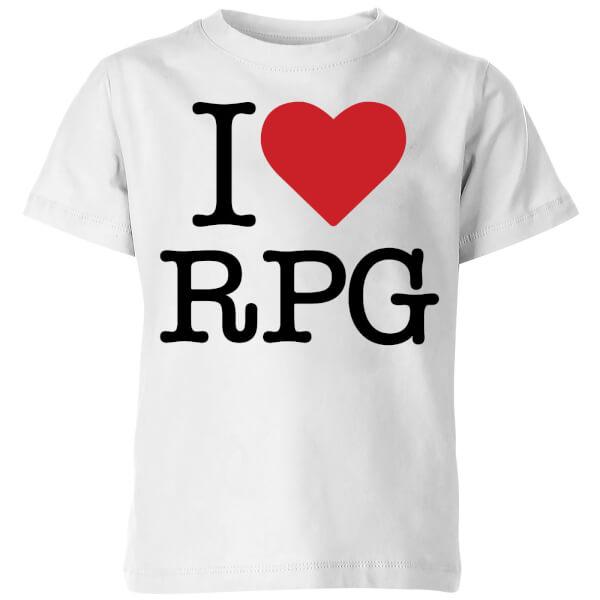 I Love RPG Kids' T-Shirt - White
