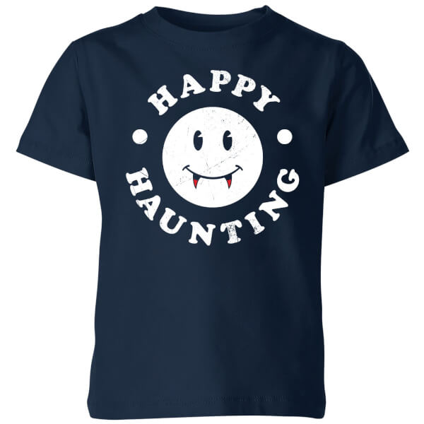 Happy Haunting Kids' T-Shirt - Navy