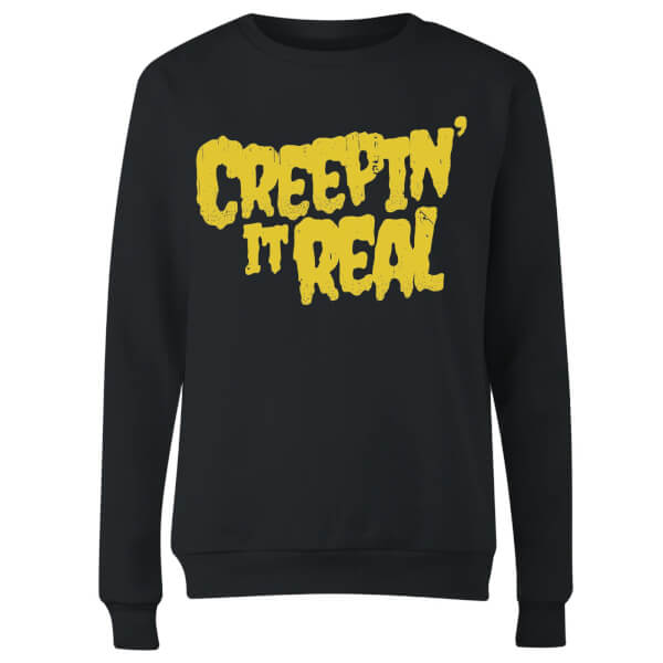 Creepin it Real Women's Sweatshirt - Black