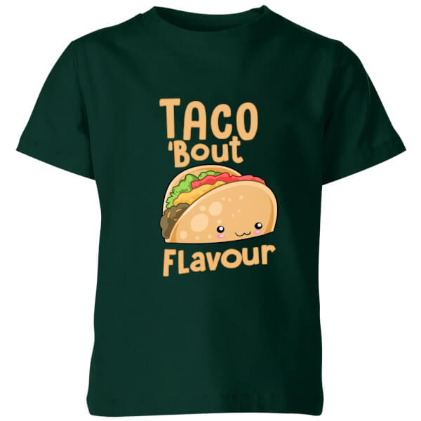 My Little Rascal Taco 'Bout Flavour Kids' T-Shirt - Forest Green