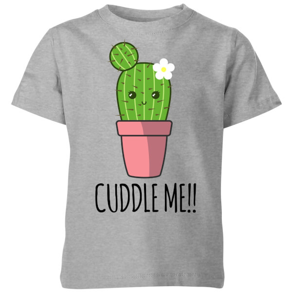 Cuddle Me Cactus Kids' T-Shirt - Grey