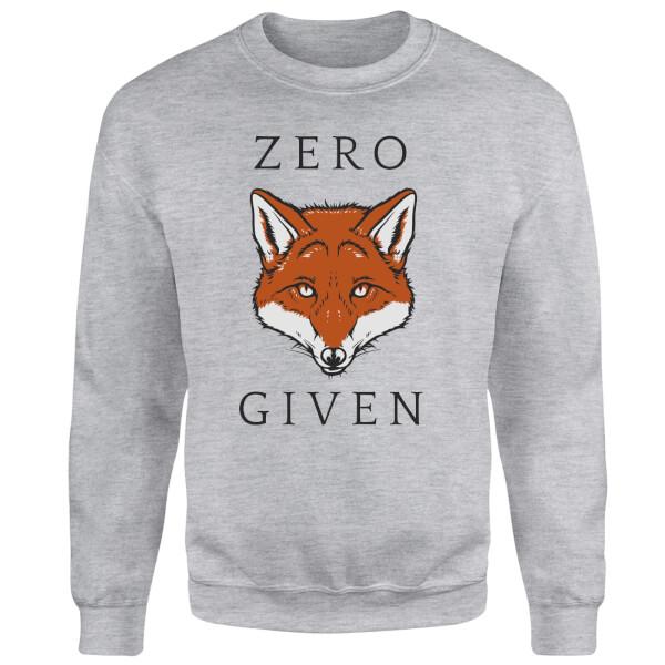 Zero Fox Given Sweatshirt - Grey