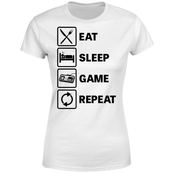 Eat Sleep Game Repeat Women's T-Shirt - White