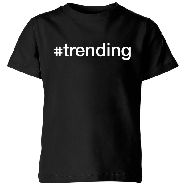 trending Kids' T-Shirt - Black