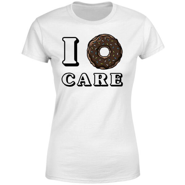 I Donut Care Women's T-Shirt - White