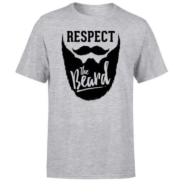 Respect the Beard T-Shirt - Grey