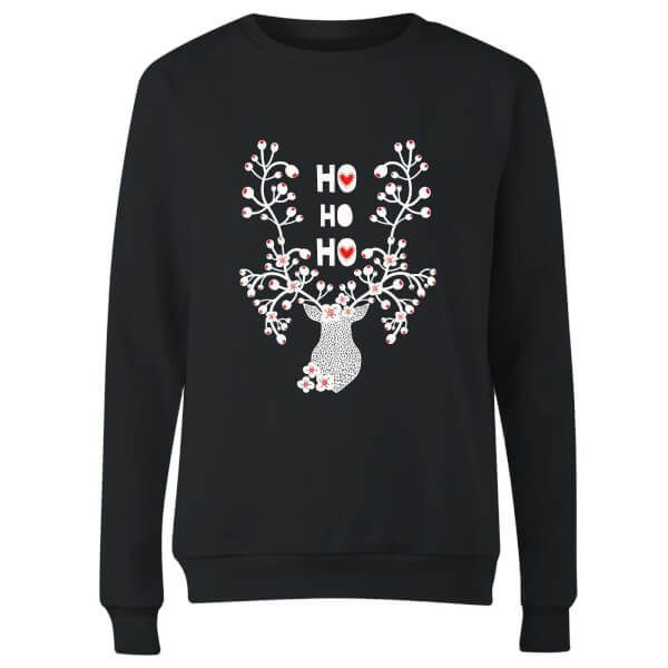 Ho Ho Ho Women's Sweatshirt - Black