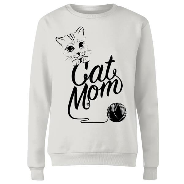 Cat Mom Women's Sweatshirt - White