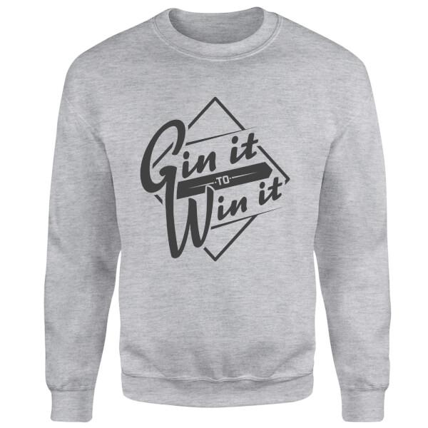 Gin it to Win it Sweatshirt - Grey
