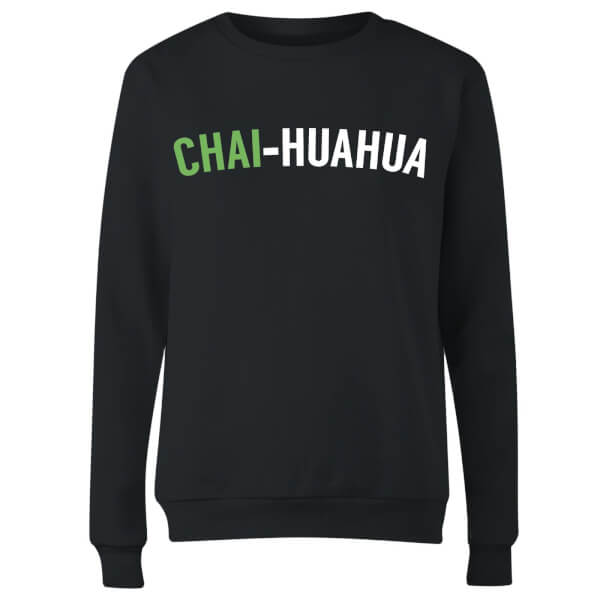 Chai-huahua Women's Sweatshirt - Black