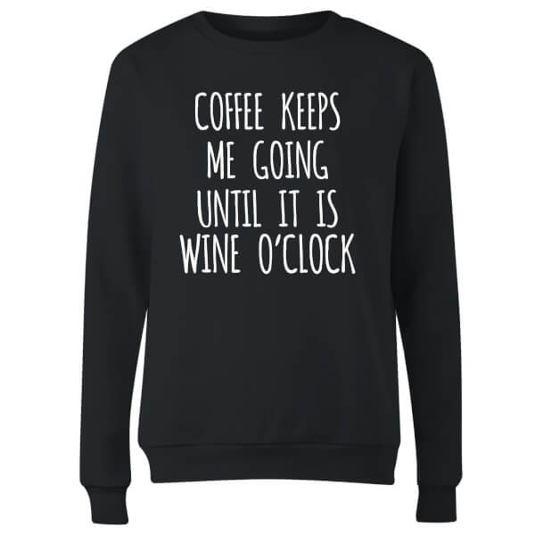 Coffee Keeps me Going Women's Sweatshirt - Black