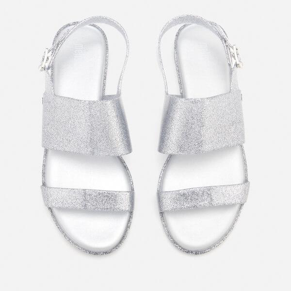 ad2540ab85c4 Melissa Women s Classy 19 Flat Sandals - Silver Glitter