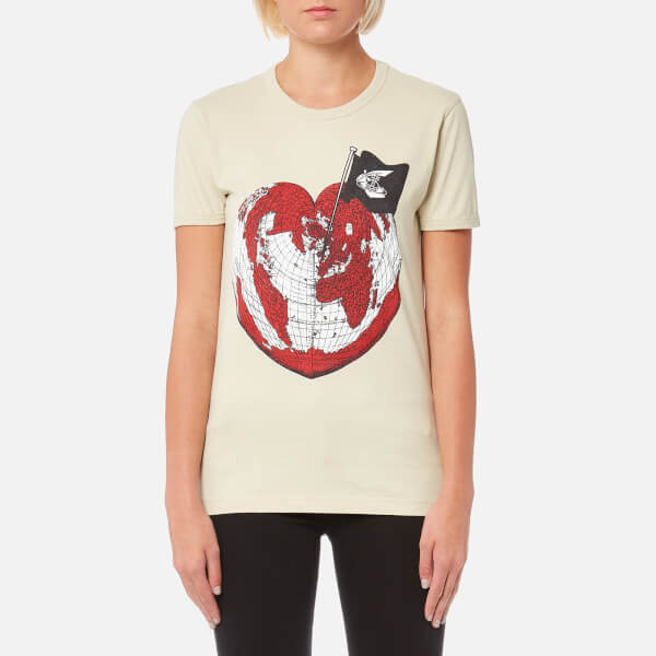 Official Online Vivienne Westwood Anglomania heart world print T-shirt Free Shipping Cheap Sale Nicekicks Largest Supplier Sale Online 9mTH73