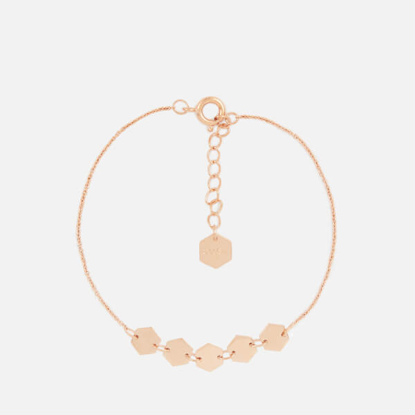 Cluse Women's Essentielle Hexagons Chain Bracelet - Rose Gold
