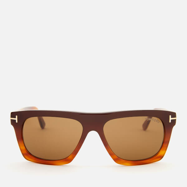 Tom Ford Men's Ernesto Square Frame Sunglasses - Dark Brown/Other/Brown