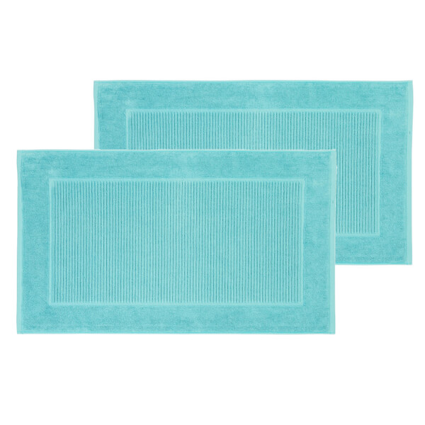 Christy Supreme Hygro Bath Mat - Set of 2 - Lagoon